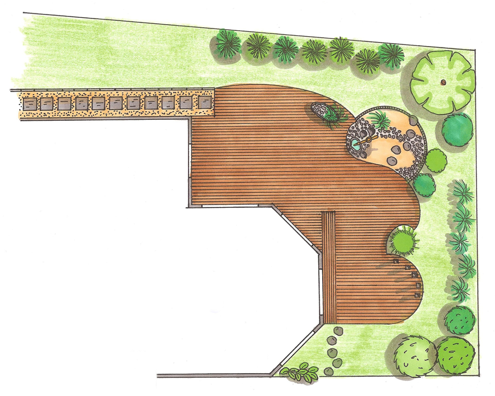 Etudes et plans de thierry dehr cr ateur de jardin for Plan amenagement jardin zen