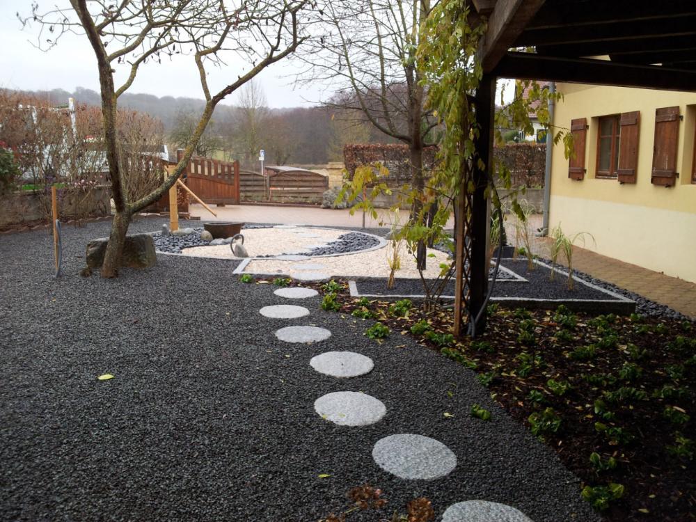 Chantier steinbrunn 3 jardins zen jardinier paysagiste for Paysagiste alsace