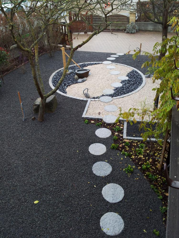 Chantier steinbrunn 3 jardins zen for Photo jardin japonais contemporain