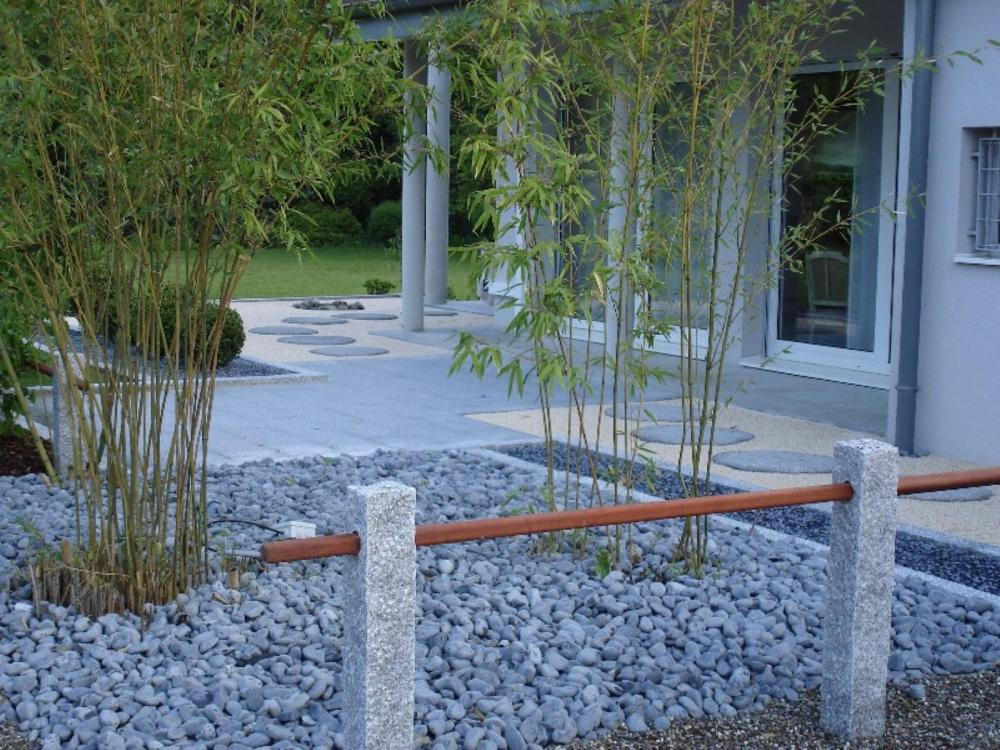 Chantier didenheim jardins zen for Plan amenagement jardin zen