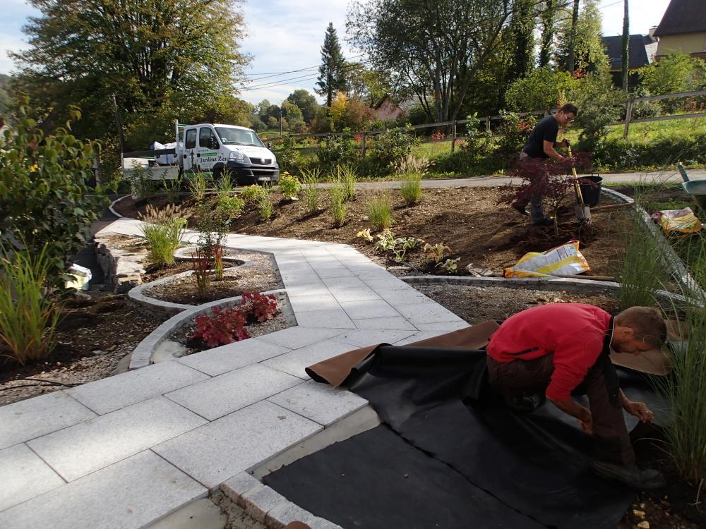 Chantier ligsdorf jardins zen jardinier paysagiste for Paysagiste alsace