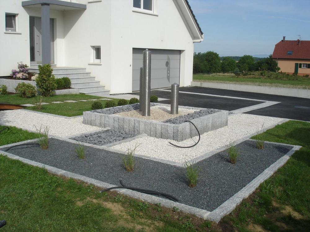 Chantier moernach jardins zen jardinier paysagiste - Photos amenagement exterieur ...